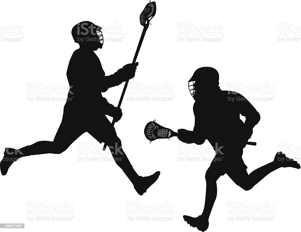 Lacrosse Players royalty-free stock vector art