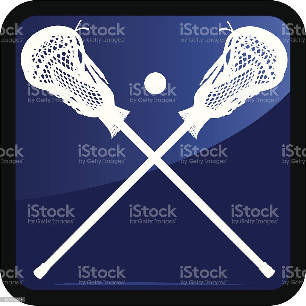 Lacrosse Sport Icon - Male royalty-free stock vector art