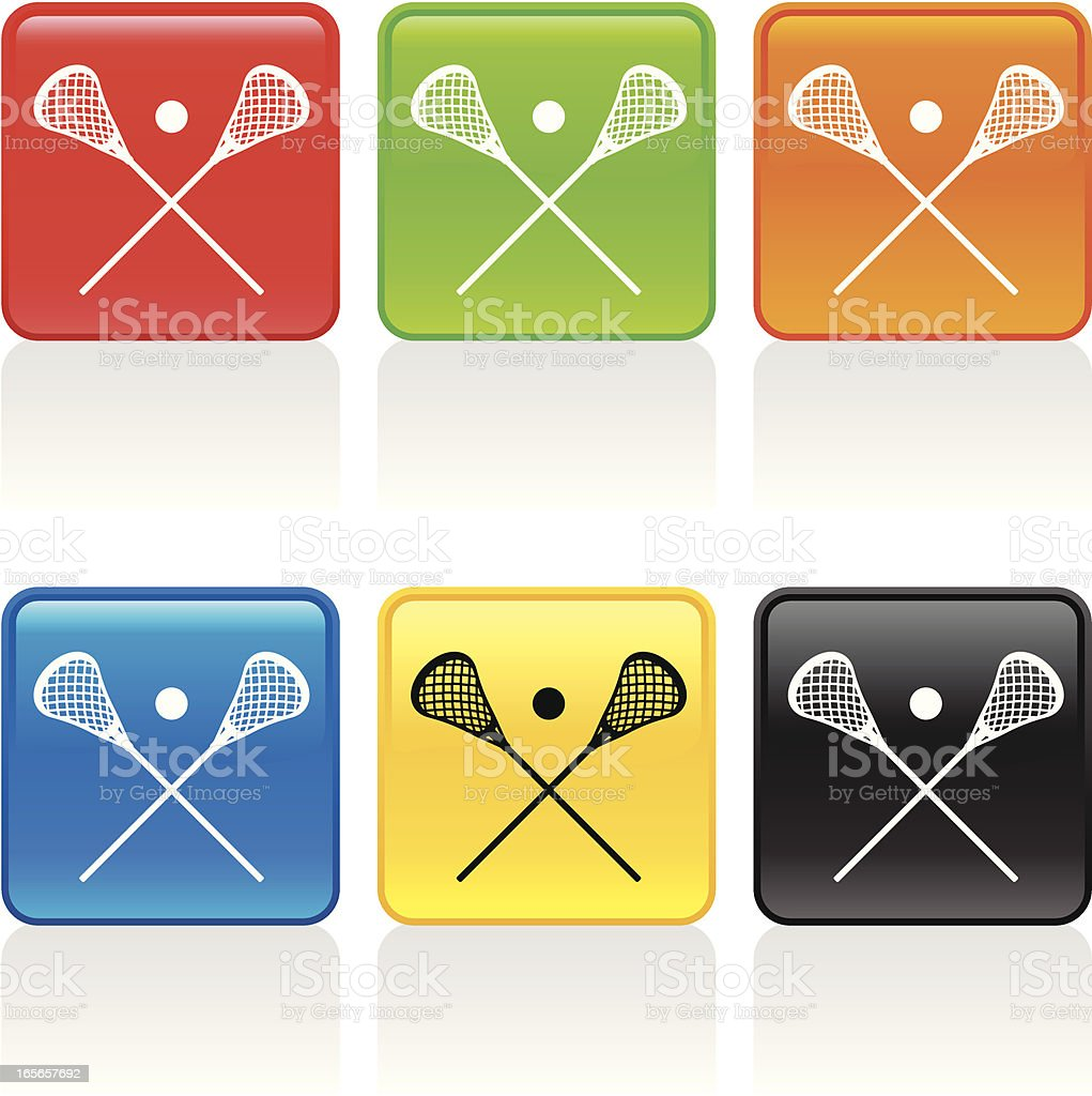 Lacrosse Sticks Icon royalty-free stock vector art
