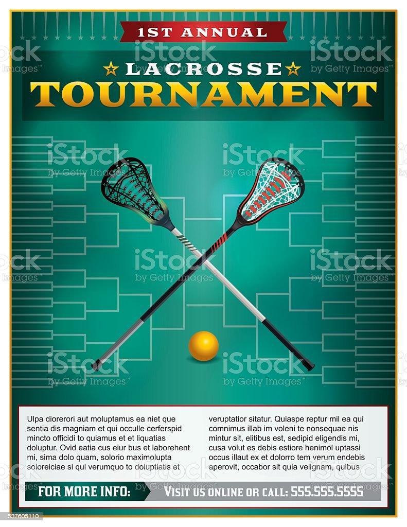 Lacrosse Tournament Flyer Template vector art illustration