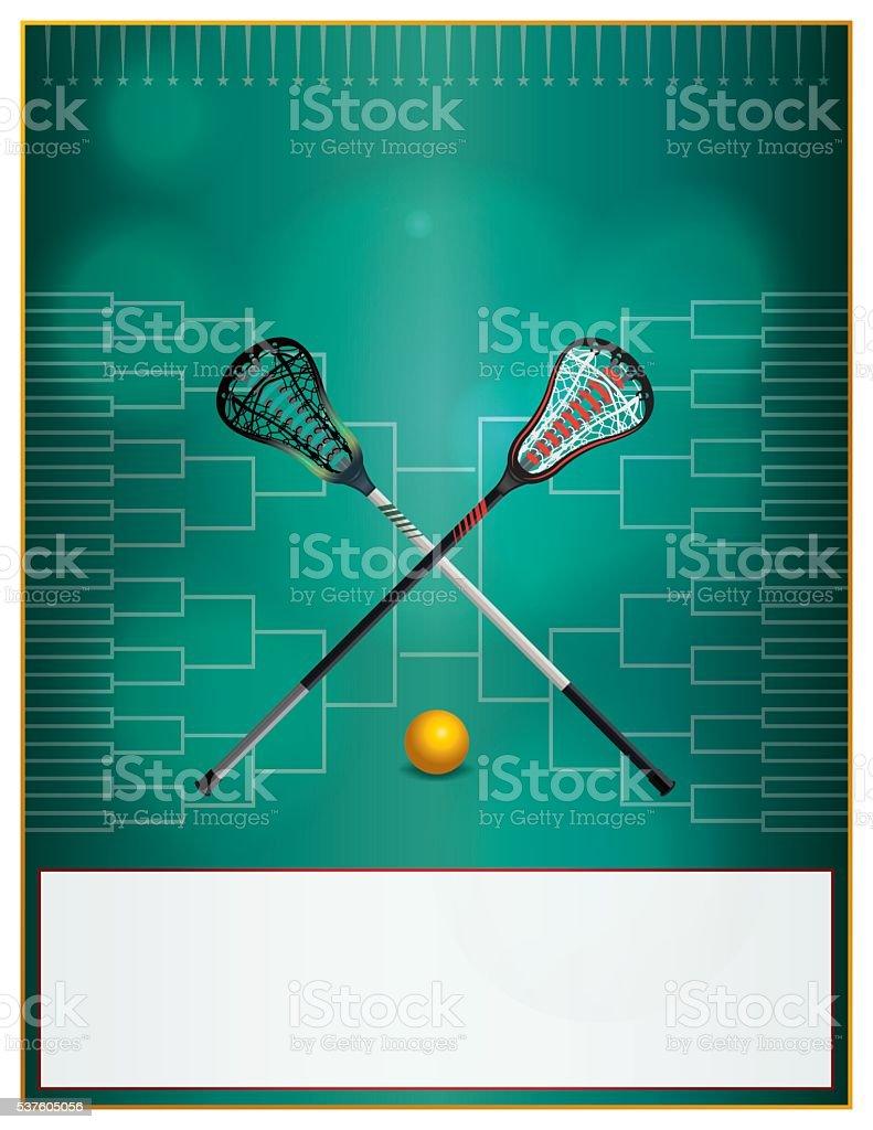 Lacrosse Tournament Template Flyer vector art illustration