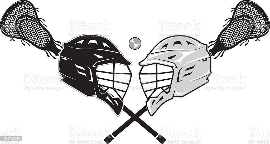 Lacrosse Versus vector art illustration