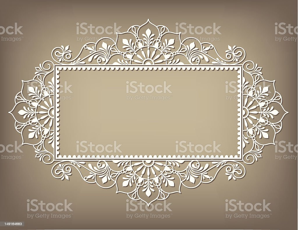 Lacy Frame royalty-free stock vector art