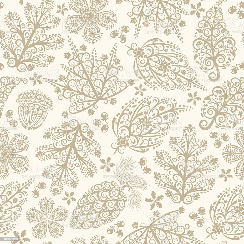 Lacy Leaves Seamless Pattern royalty-free stock vector art