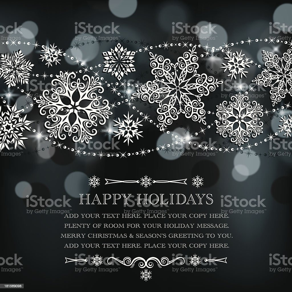 Lacy Snowflakes Background vector art illustration