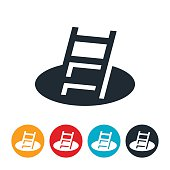 Ladder In Pit Icon