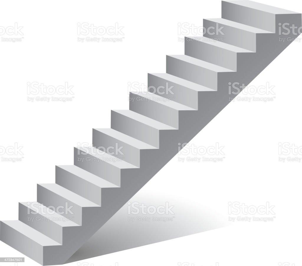 Ladder isolated on white vector art illustration