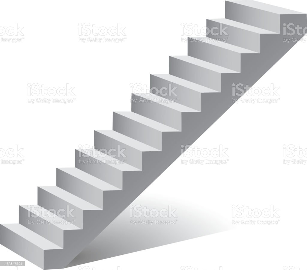 Ladder isolated on white vector art illustration