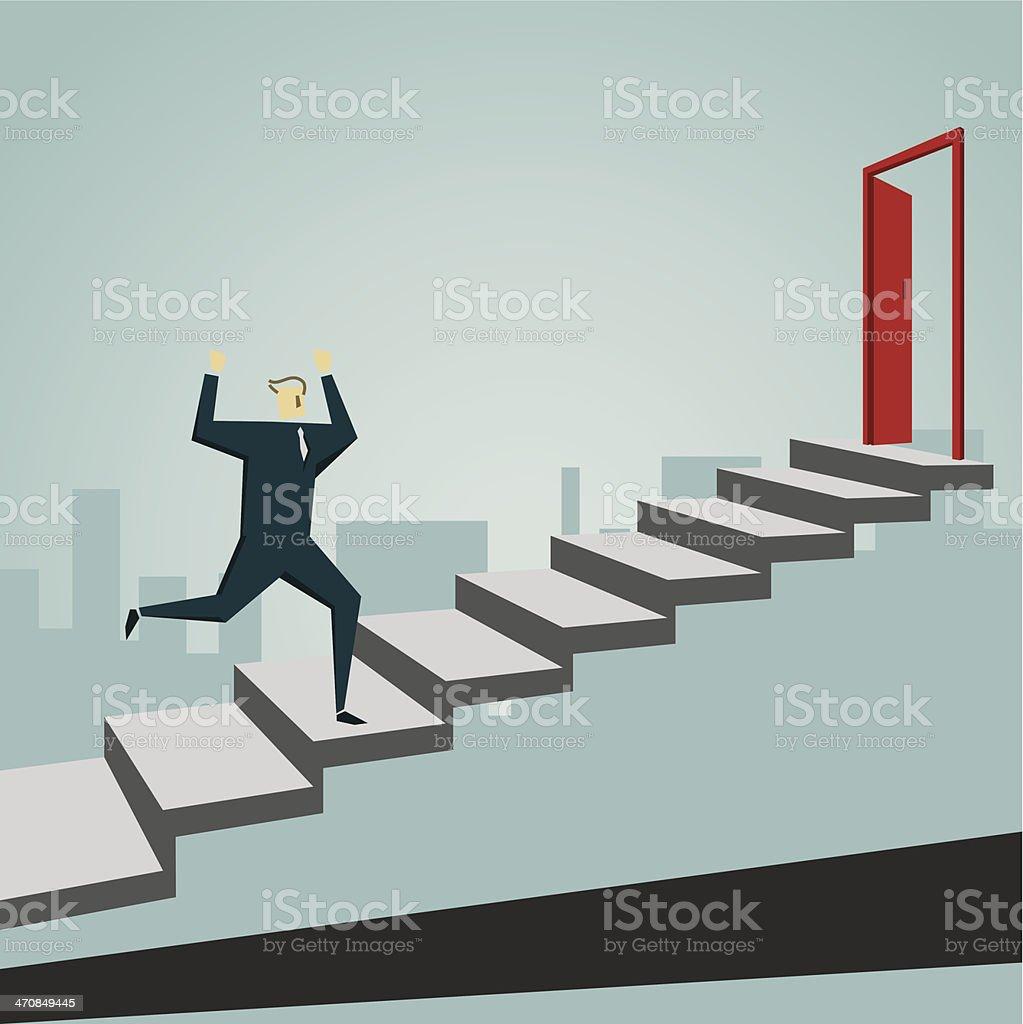 Ladder of Success vector art illustration
