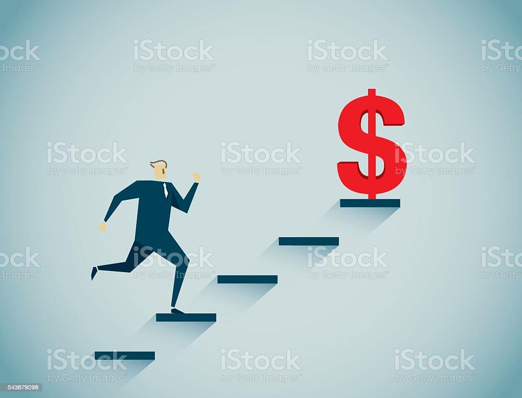Ladder of Success, vector art illustration