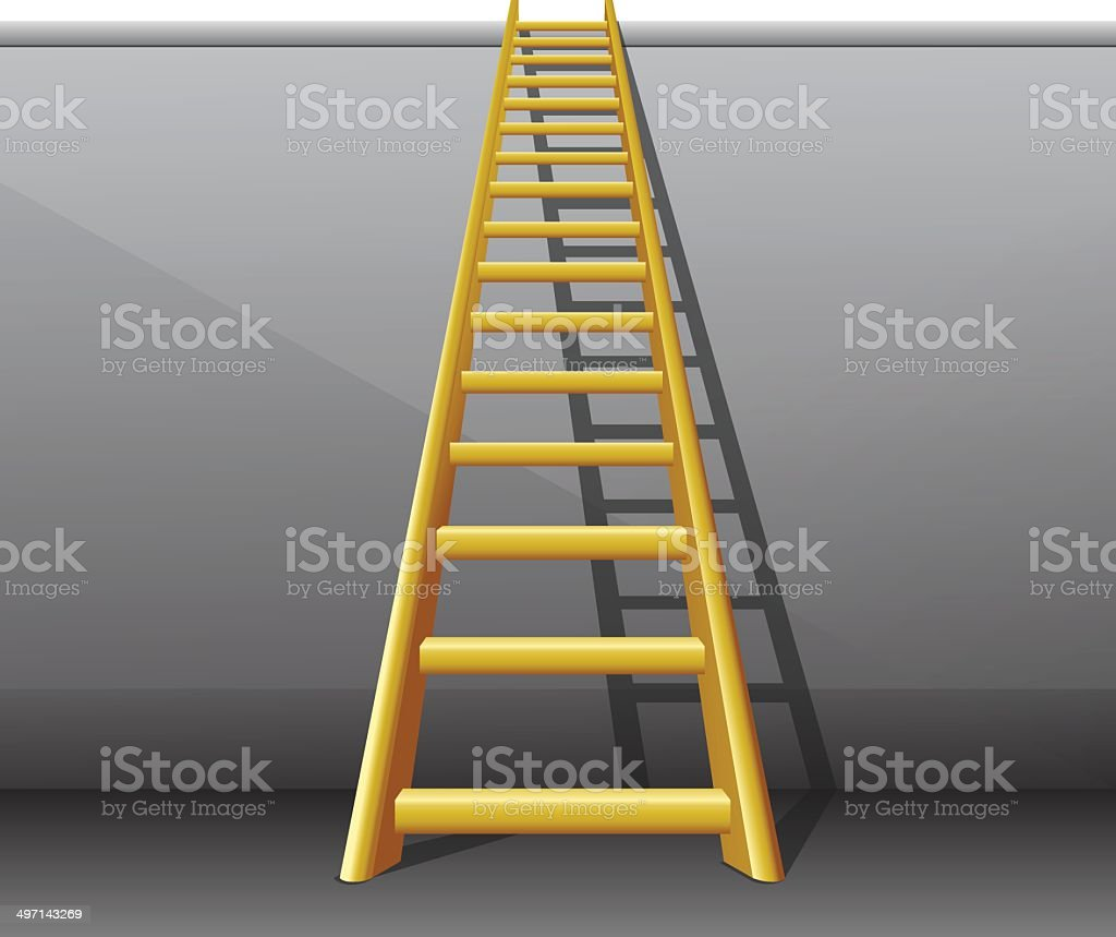 Ladder on wall royalty-free stock vector art