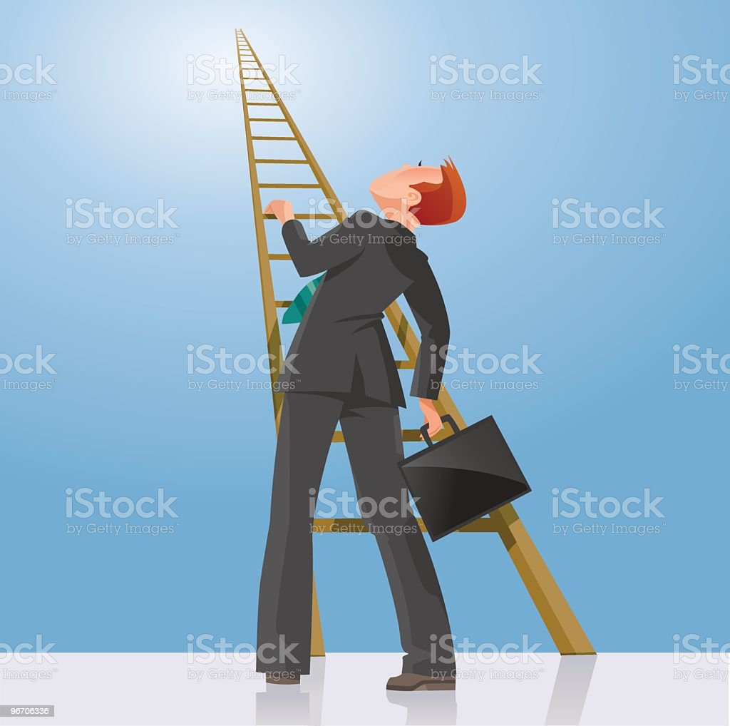 Ladder to the top vector art illustration