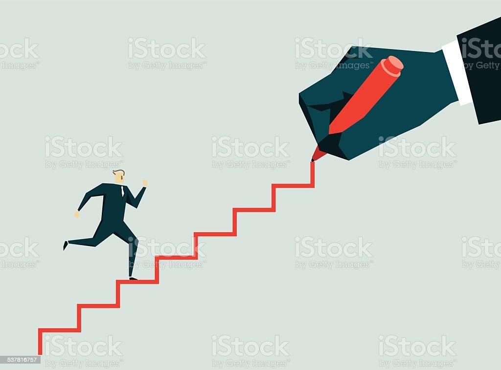 Ladder vector art illustration