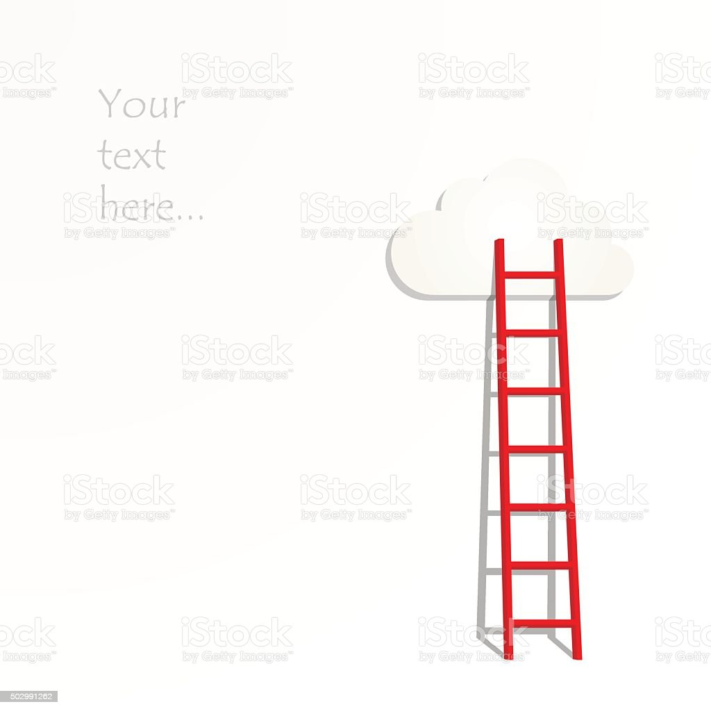 Ladders to the clouds illustration vector art illustration