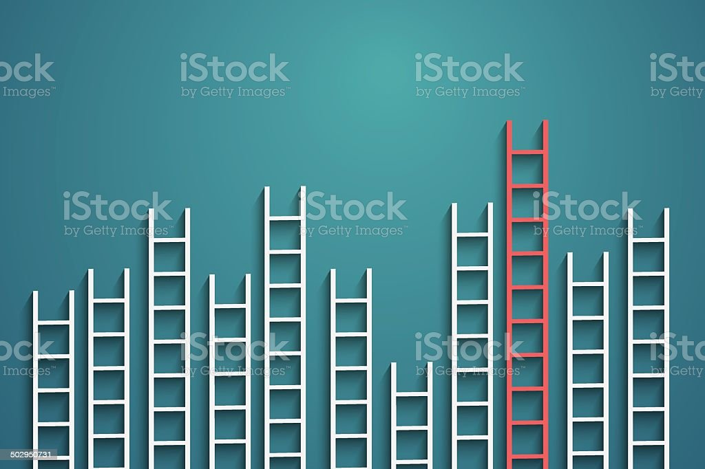 ladders vector art illustration