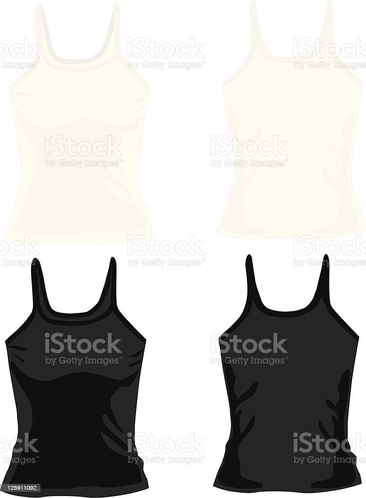 Ladies Camisole Tops royalty-free stock vector art