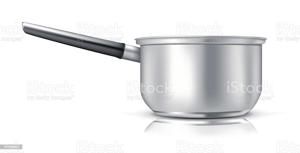 A ladle piece of cooking ware  vector art illustration