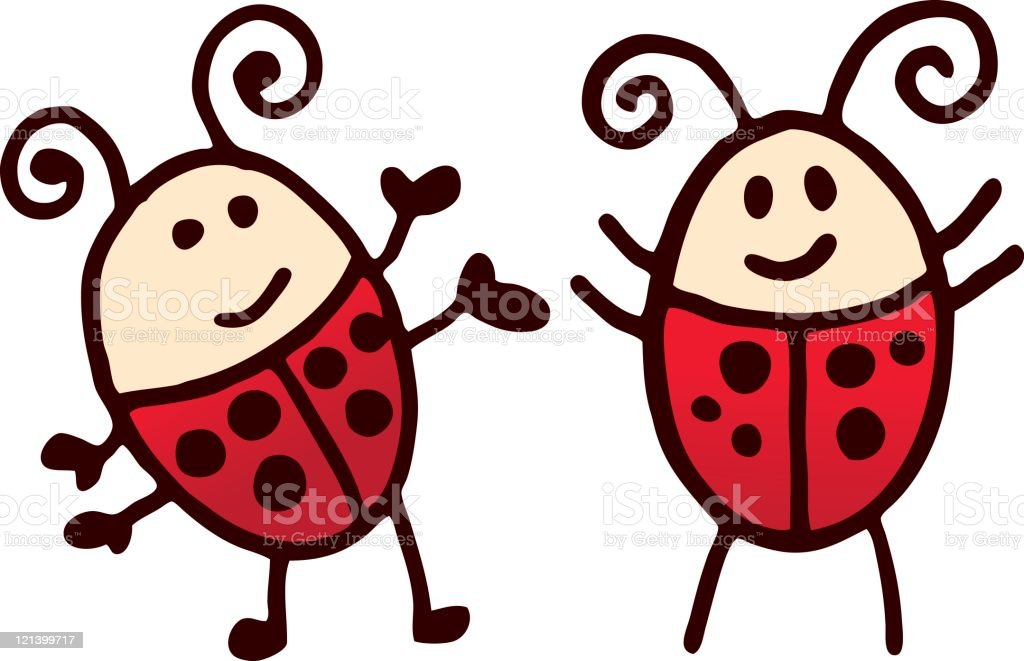 Lady Bugs royalty-free stock vector art