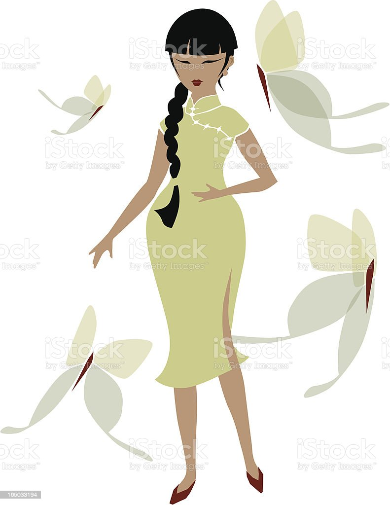 Lady Butterfly of Refreshing Spring royalty-free stock vector art