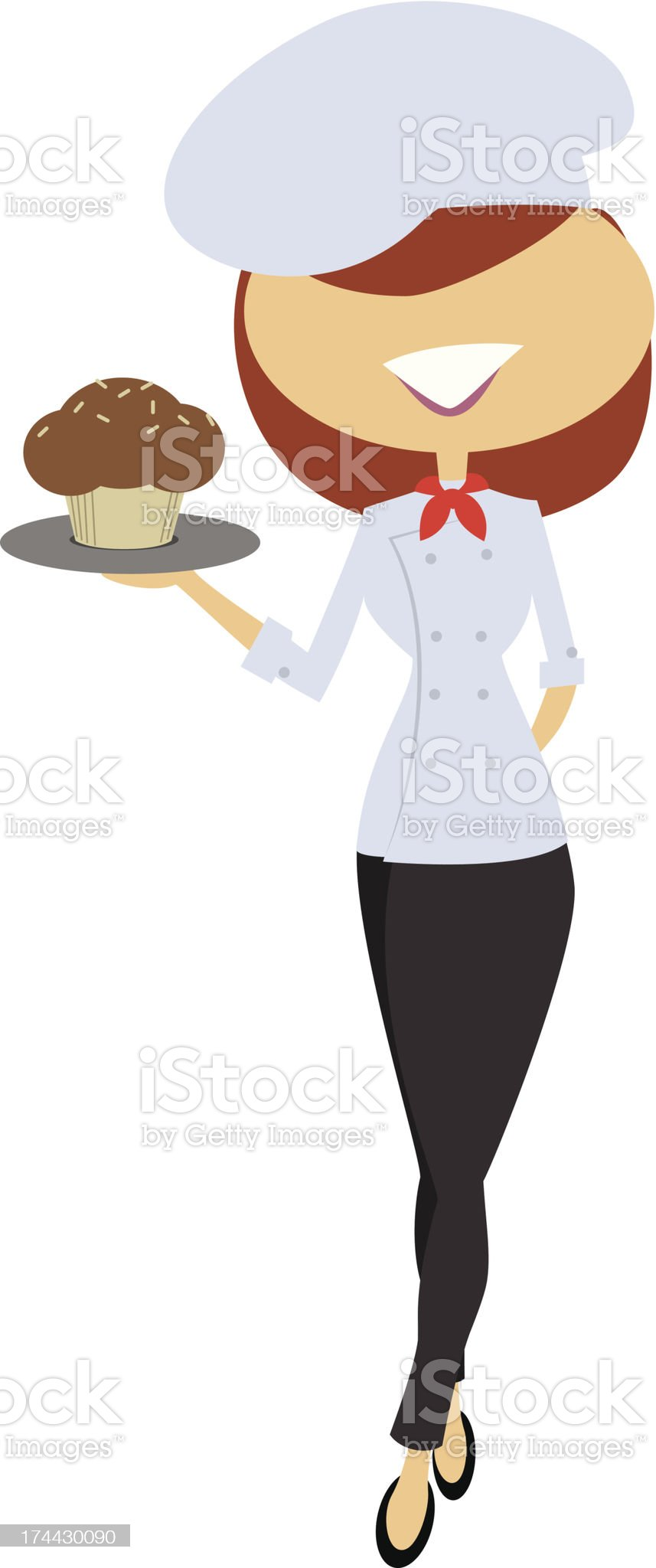 Lady Chef royalty-free stock vector art