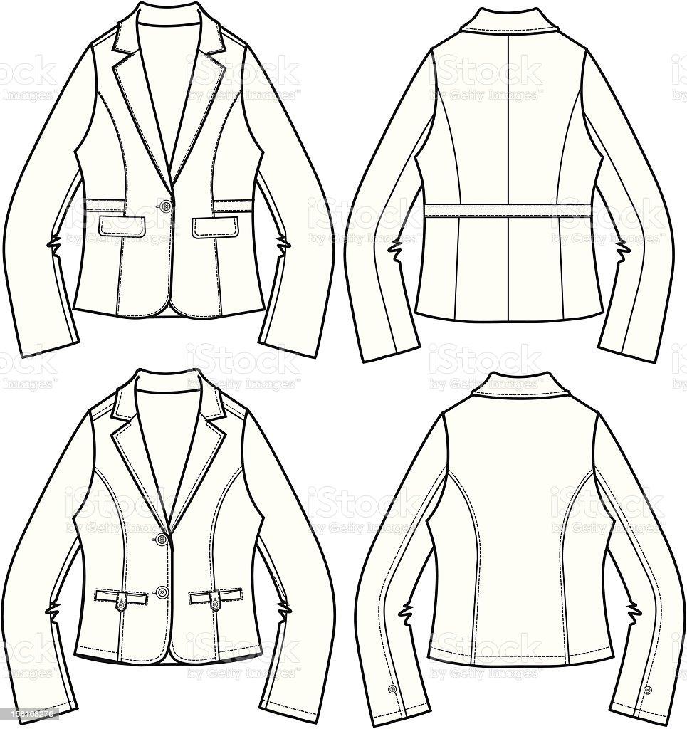 lady fashion blazer royalty-free stock vector art