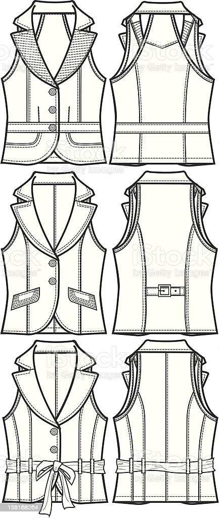 lady fashion vest jacket royalty-free stock vector art