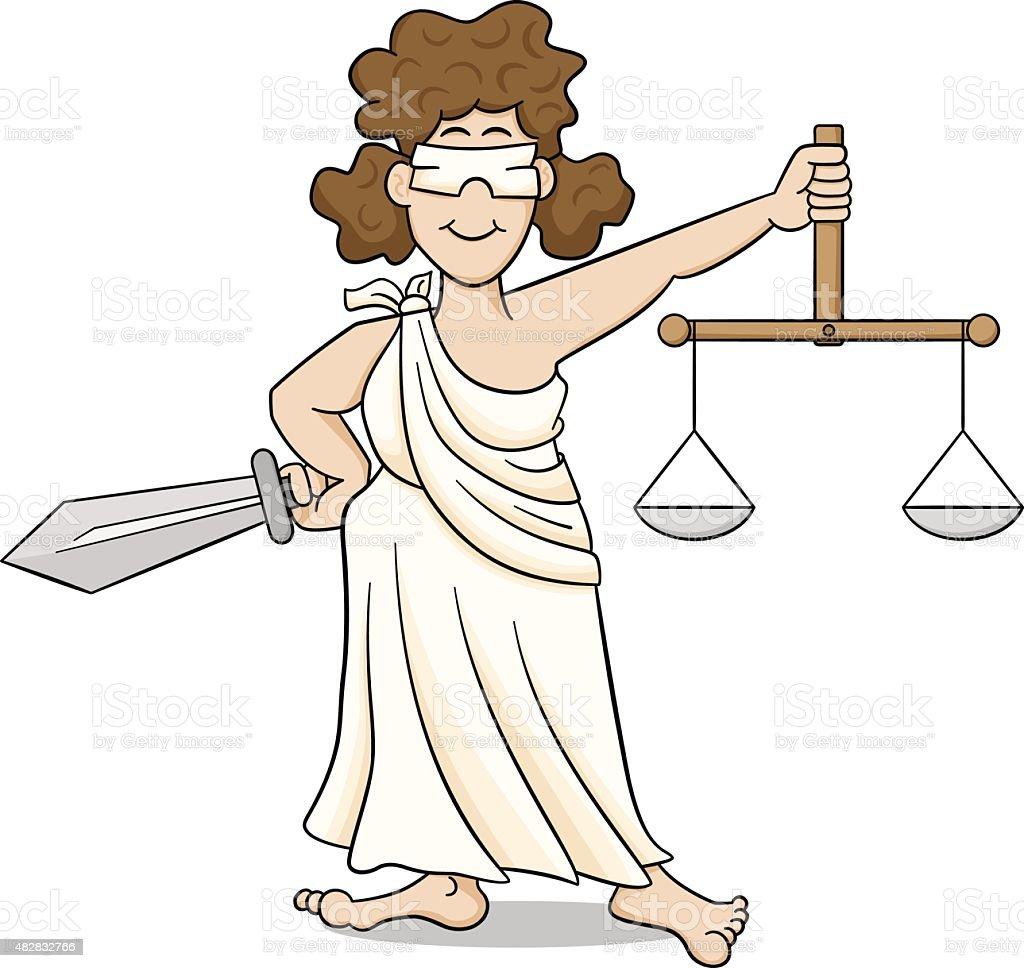 lady justice vector art illustration