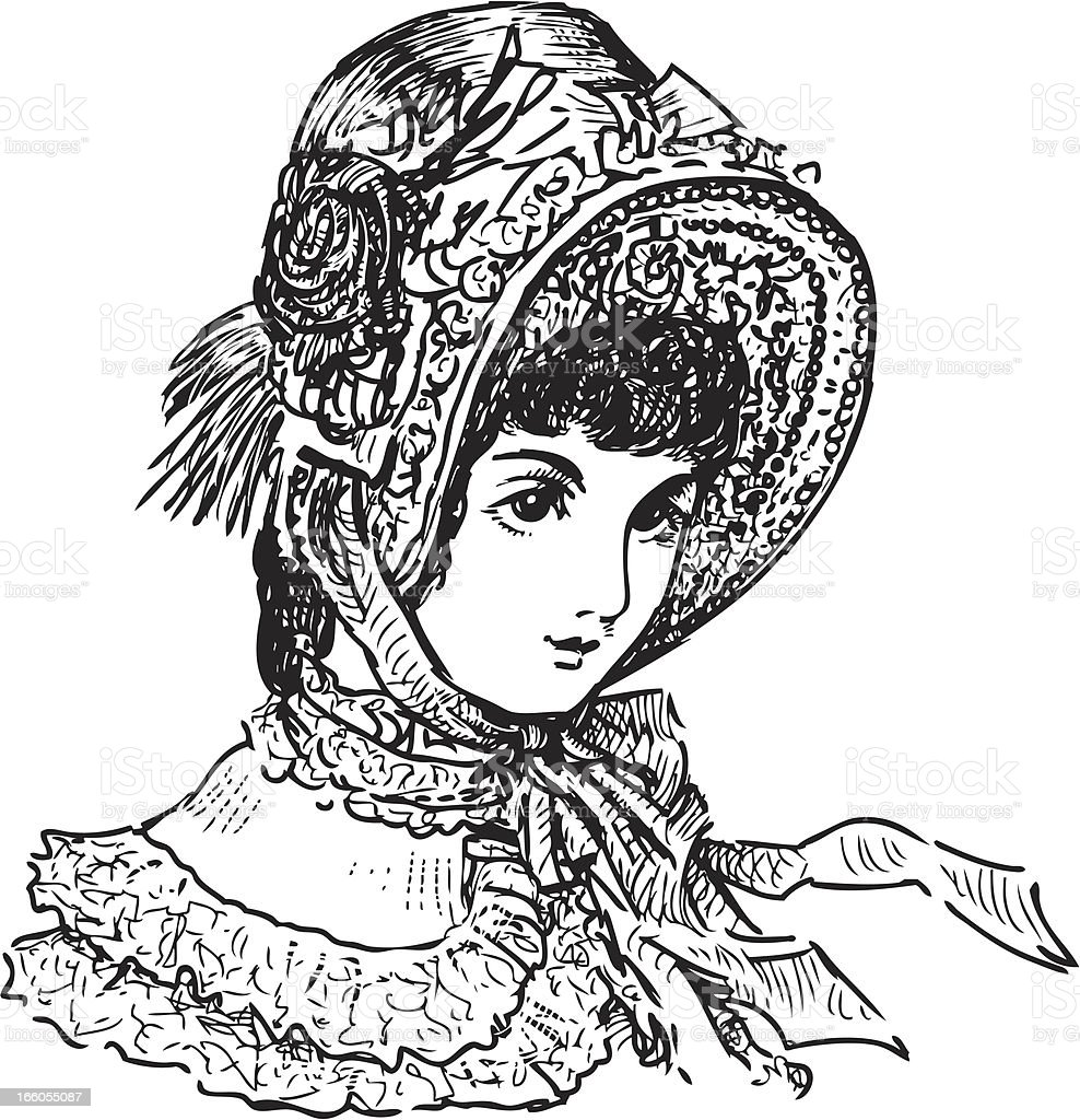 lady of the 19th century royalty-free stock vector art
