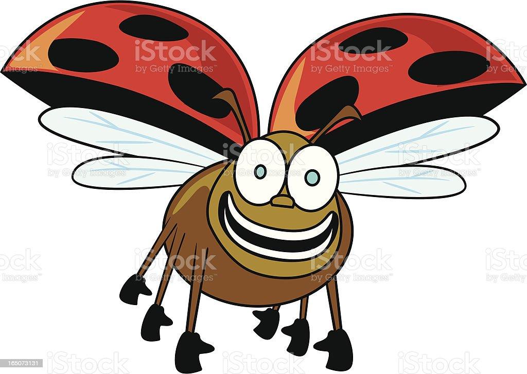 Ladybird Cartoon royalty-free stock vector art