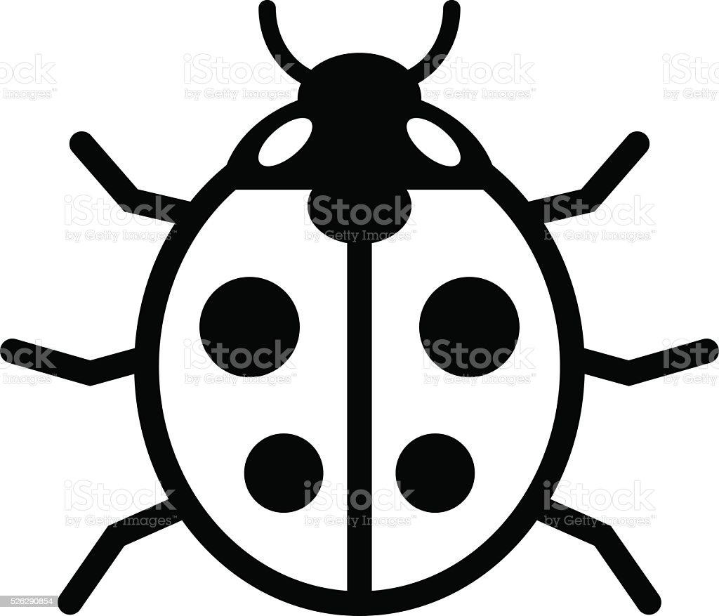 Ladybird icon vector art illustration