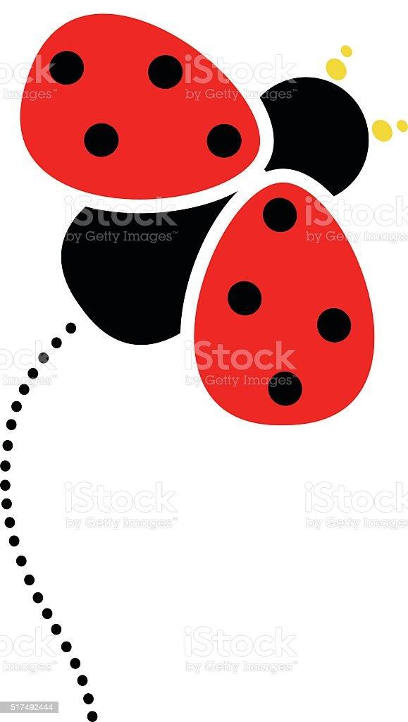 Ladybug design element vector art illustration
