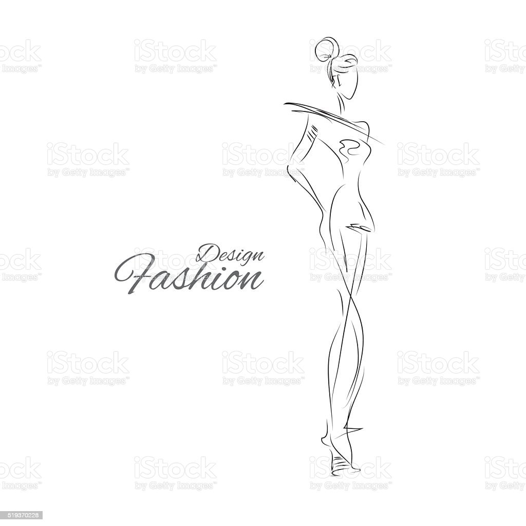 Lady-design vector art illustration