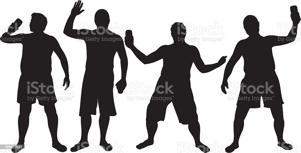 Lager Lout Silhouettes royalty-free stock vector art