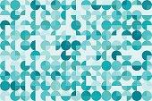 Lake Geometric Circle Pie Horizontal Pattern