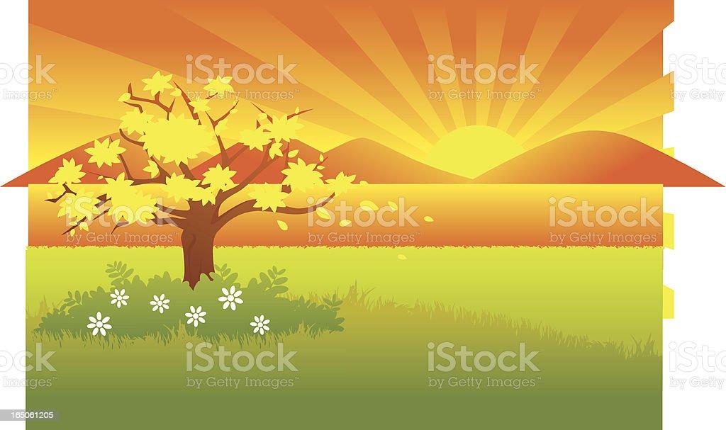 Lake sunset royalty-free stock vector art