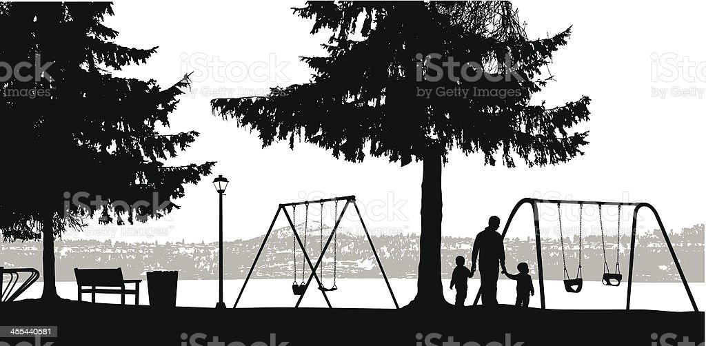 Lakeside Heights royalty-free stock vector art