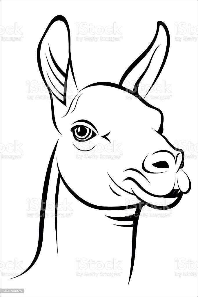 Lama royalty-free stock vector art