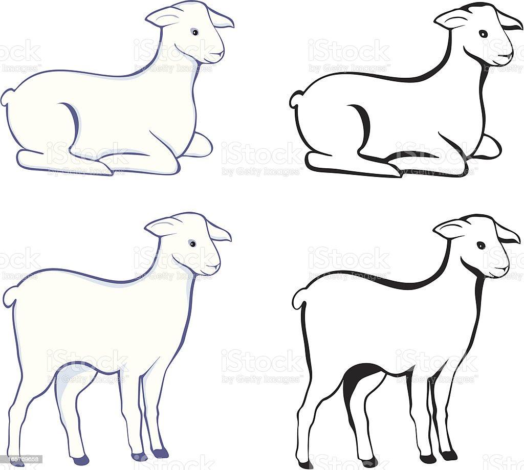 Lamb vector art illustration