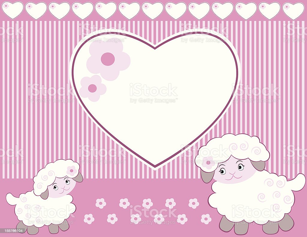lambs for baby girl royalty-free stock vector art