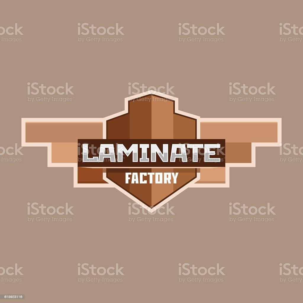 Laminate factory logo emblem badge. vector art illustration