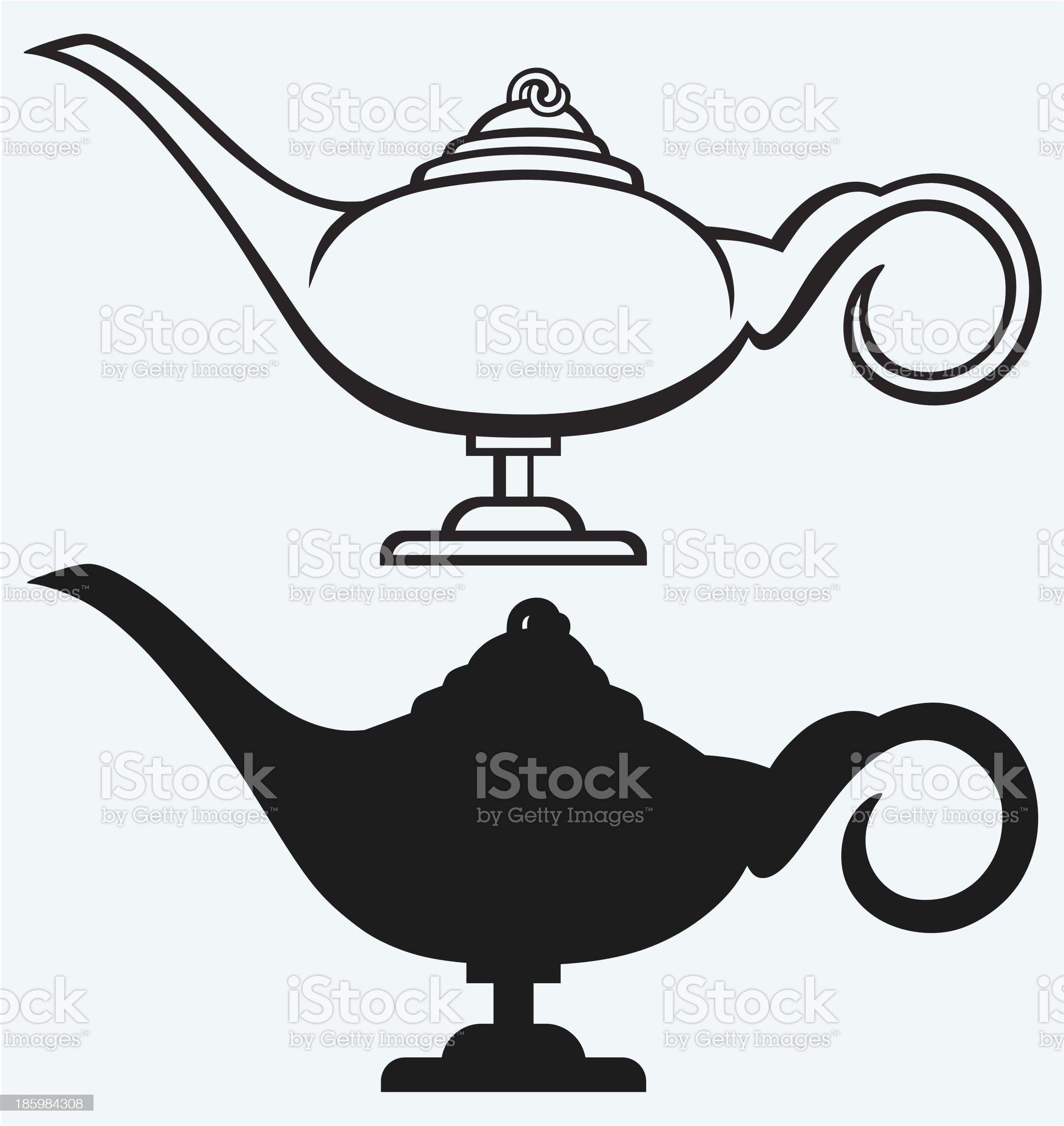 Lamp Aladdin royalty-free stock vector art