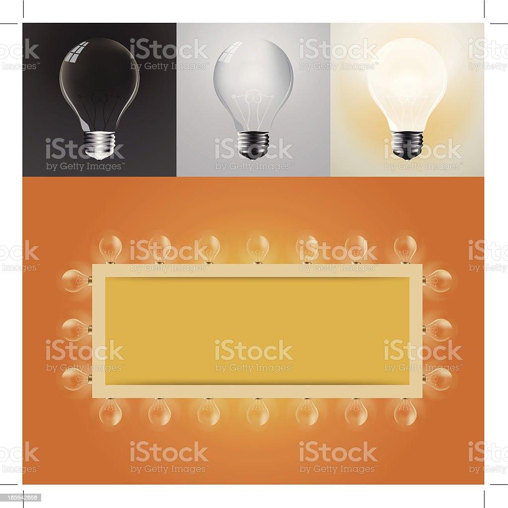 Lamp bulbs vector art illustration