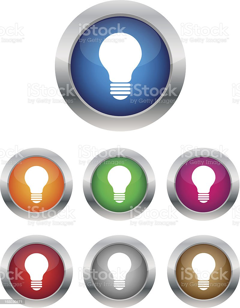 Lamp buttons stock photo