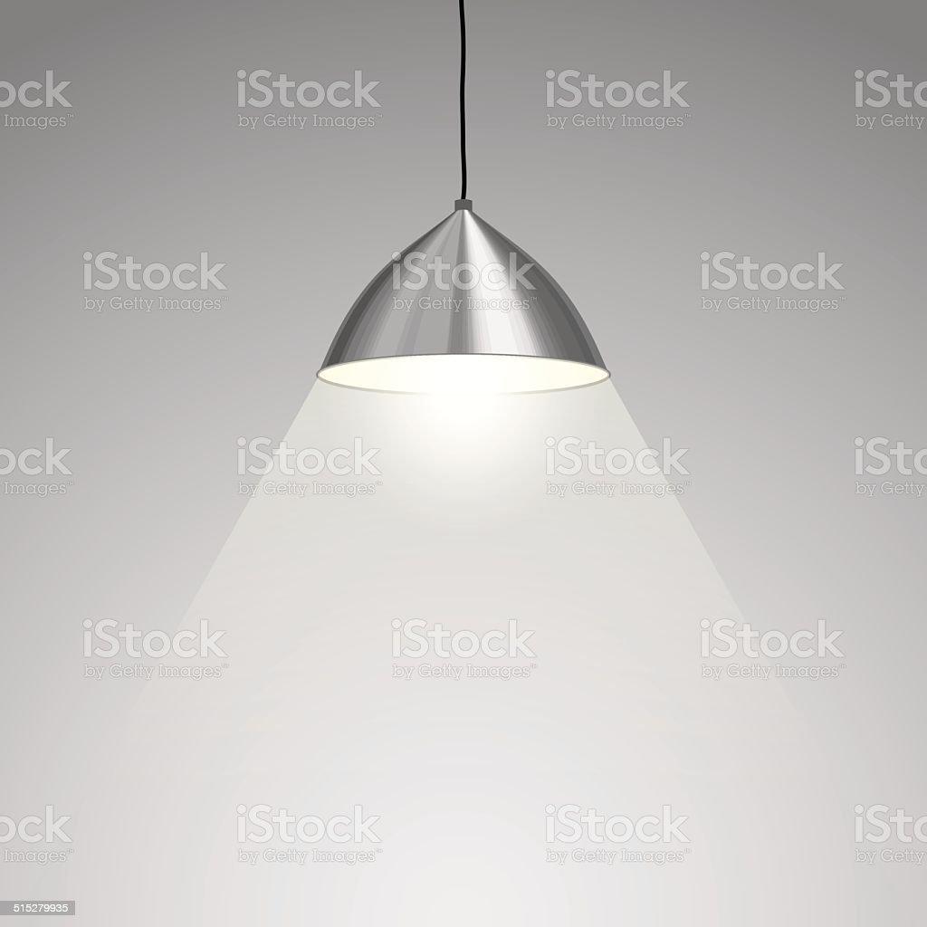Lamp Hanging vector art illustration