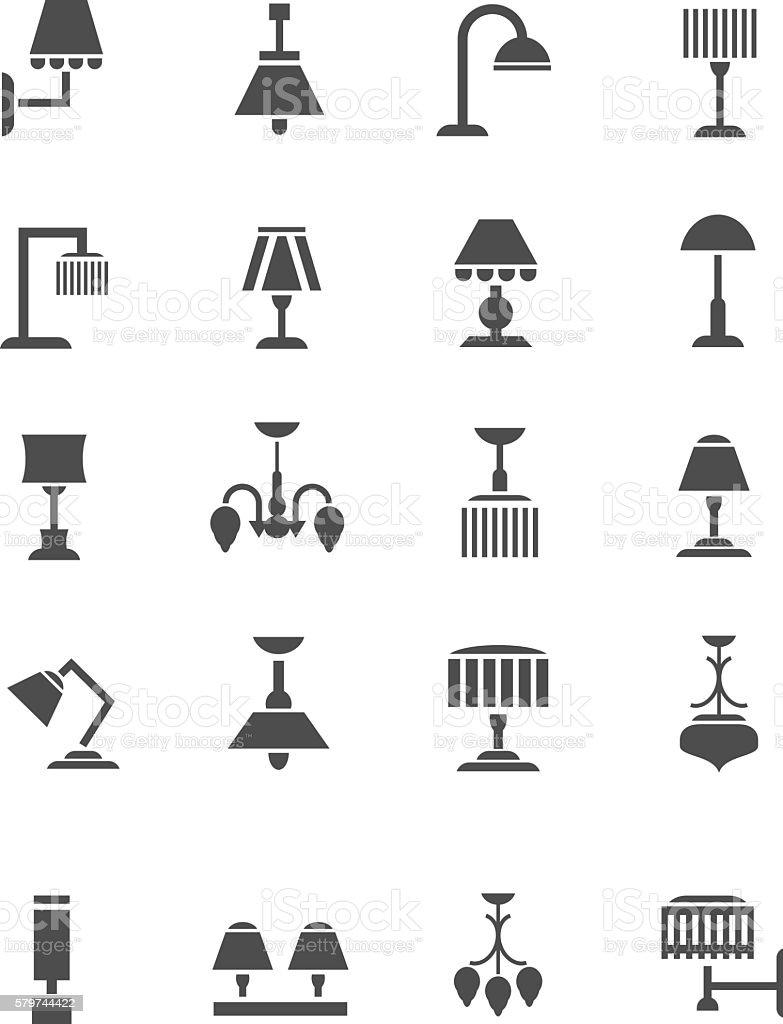 Lamp icon vector art illustration