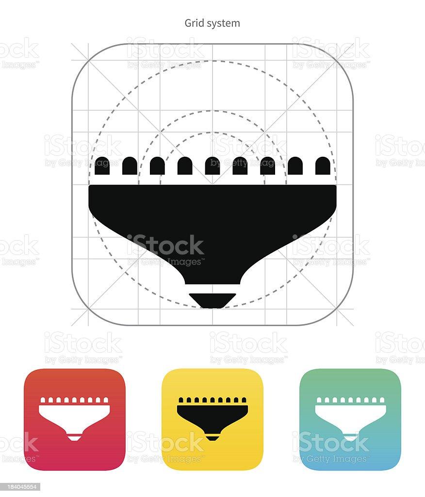 LED lamp icon. Vector illustration. royalty-free stock vector art