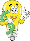 Lamp keeps dollar symbol