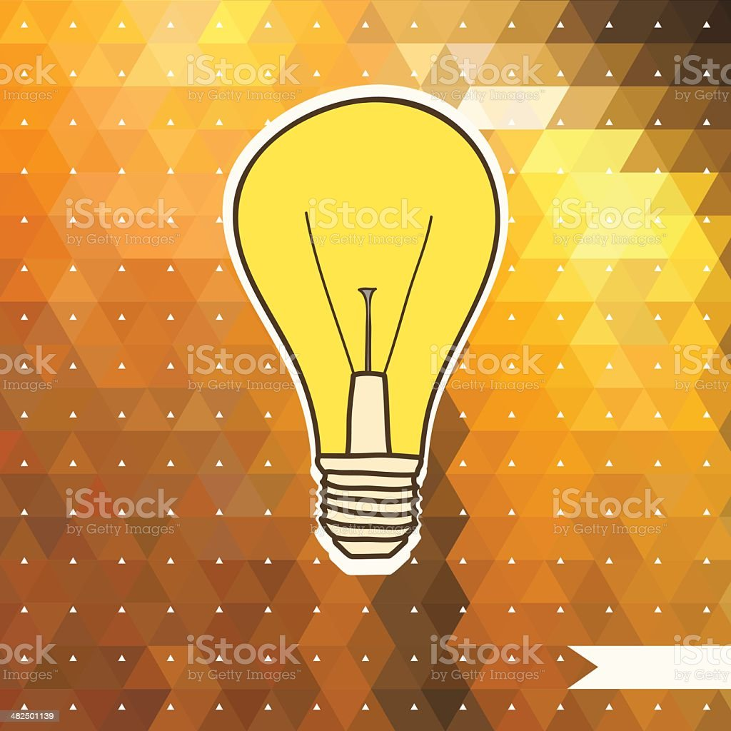 Lamp on the triangle background. royalty-free stock vector art