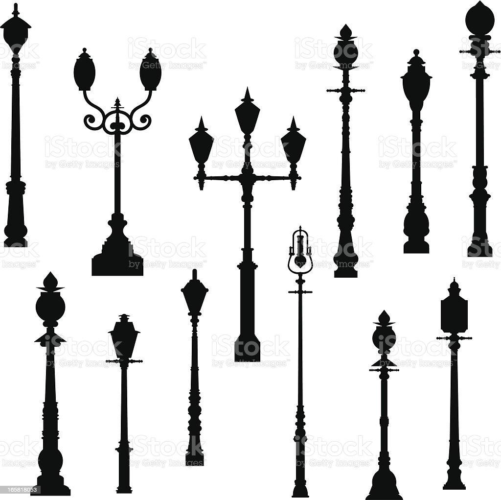 Lamp Post vector art illustration