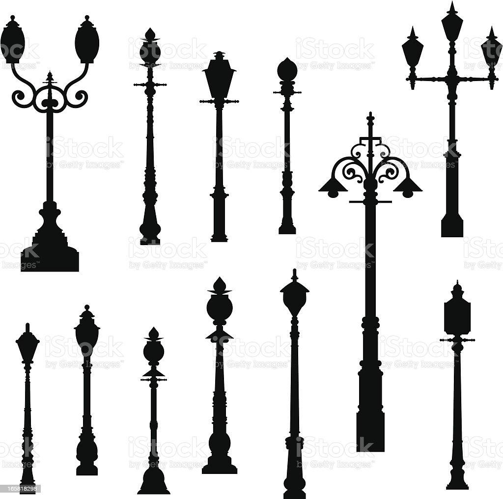 Lamp Post royalty-free stock vector art